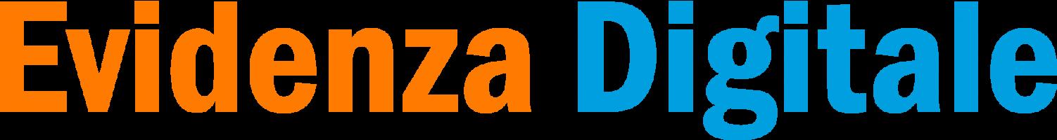 Logo Evidenza Digitale Marketing Digitale Siti Web Blu